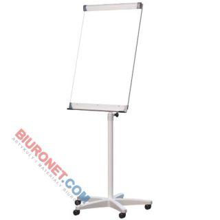 Flipchart mobilny Dotts, tablica suchościeralna magnetyczna 70x100 cm, z półką regulowana wysokość