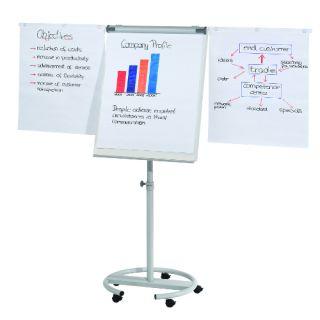 Flipchart mobilny Franken, tablica na kółkach, z bocznymi ramionami #wysoka_jakość