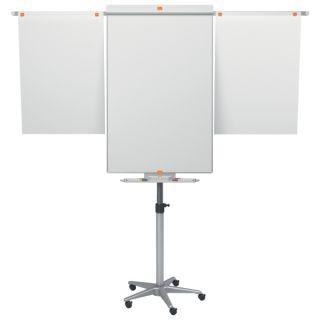 Flipchart mobilny Nobo Classic, tablica suchościeralna magnetyczna 69x74.5 cm, z półką i wyciąganymi ramionami wysokość 190 cm