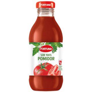 Fortuna, sok pomidorowo - warzywny w szklanej butelce 0,33L x 15 sztuk