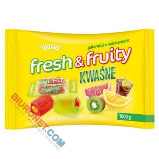Fresh & Fruity KWAŚNE Wawel, galaretki owocowe z nadzieniem
