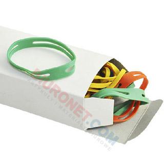 Gumki recepturki krzyżowe typu X-Bands. Do spinania pliku dokumentów