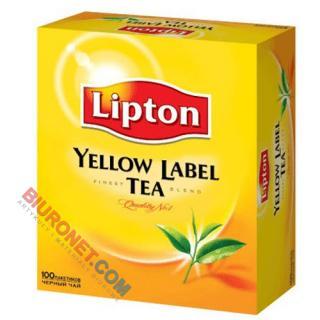 Herbata czarna Lipton Yellow Label, ekspresowa, torebki ze sznureczkami