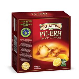 Herbata czerwona Big-Active Pu-Erh o smaku cytrynowym, aromatyzowana, ekspresowa