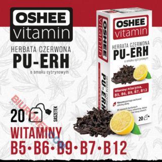Herbata czerwona OSHEE Vitamin PU-ERH o smaku cytrynowym