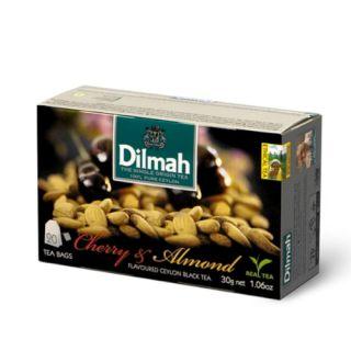 Herbata Dilmah, czarna aromatyzowana, 20 torebek ze sznureczkami Cherry & Almond