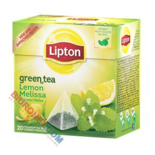 Herbata Lipton Piramidka Green Tea, zielona, 20 torebek