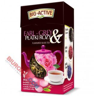 Herbata liściasta Big-Active Earl Grey & Płatki Róży, czarna, aromatyzowana