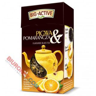 Herbata liściasta Big-Active Pigwa & Pomarańcza, czarna yunnan, aromatyzowana