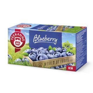 Herbata Teekanne World of Fruits, owocowa, 20 torebek w kopertach borówkowa