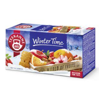 Herbata Teekanne World of Fruits Winter Time, owocowa, 20 torebek w kopertach jabłko z cynamonem