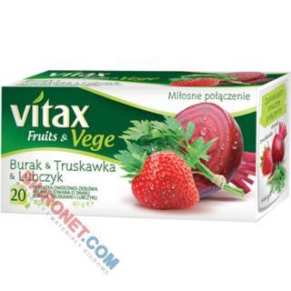 Herbata Vitax Fruits&Vege, owocowo-ziołowa z warzywami, 20 torebek