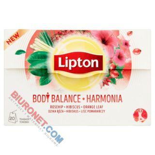 Herbata ziołowa Lipton Body Balance Harmonia, funkcyjna, hibiskus z dziką różą