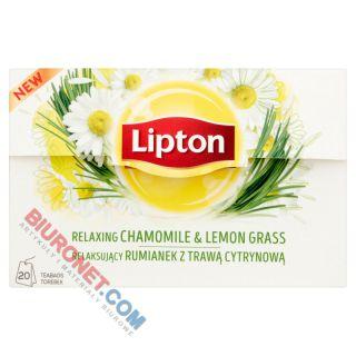 Herbata ziołowa Lipton Relaksujący Rumianek z Trawą Cytrynową, funkcyjna
