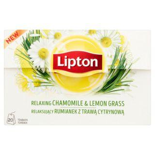 Herbata ziołowa Lipton Rumianek z Trawą Cytrynową, funkcyjna, ekspresowa 20 torebek