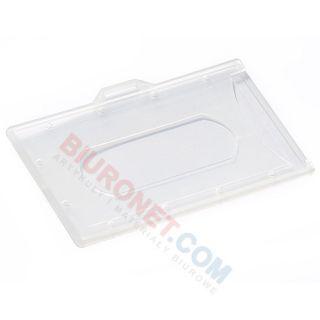 Holder do kart plastikowych bez taśmy, ucho na dłuższej krawędzi, 50 sztuk