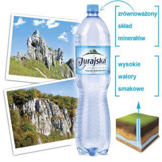 Jurajska, woda mineralna [1,5L x 6 sztuk]