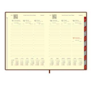 Kalendarz 2018, książkowy A4 z registrami