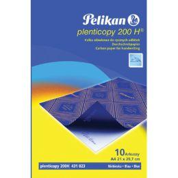Kalka ołówkowa Pelikan A4 niebieska, 10 arkuszy.