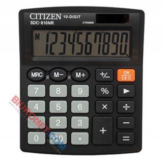 Kalkulator biurowy Citizen SDC-810NR, wyświetlacz 10 cyfr, kolorowa obudowa