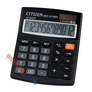 Kalkulator Citizen SDC-812Nr, 12 cyfr, biurowy czarny