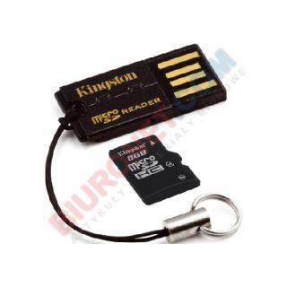 Karta pamięci microSD Kingston + czytnik USB