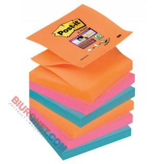 Karteczki harmonijkowe Post-it Super Sticky Z-Notes Bangkok, 6 bloczków po 90 kartek