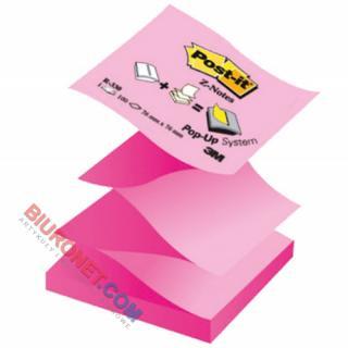 Karteczki harmonijkowe Post-it Z-Notes 76x76 mm, dwukolorowy bloczek 100 kartek