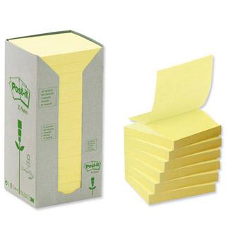 Karteczki harmonijkowe Post-it Z-Notes Eko 76x76 mm, 16 bloczków po 100 kartek