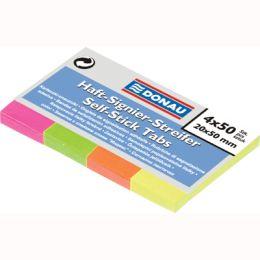 Karteczki indeksujące Donau 20x50mm, papierowe zakładki paski, 200 sztuk