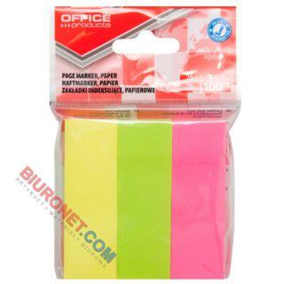 Karteczki indeksujące Office Products 26 x 76 mm, papierowe zakładki, 300 sztuk, zawieszka