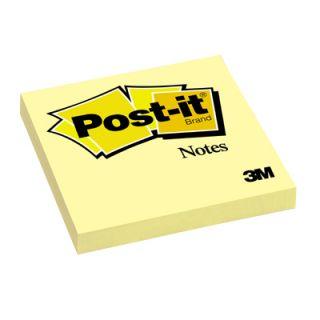 Karteczki Post-it, bloczek 100 kartek, żółte