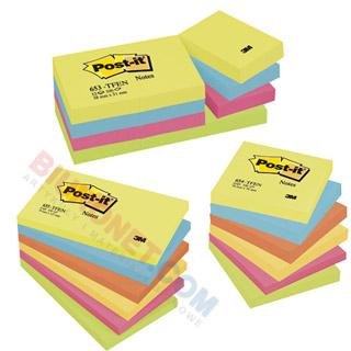 Karteczki Post-it Super Sticky Paleta Energetyczna, komplet bloczków po 100 kartek