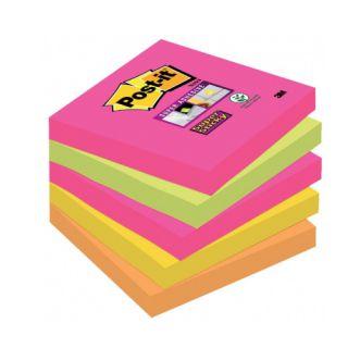 Karteczki Post-it Super Sticky paleta Kapsztad, komplet bloczków po 90 kartek 76 x 76 mm - 5 bloczków