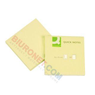 Karteczki samoprzylepne Q-Connect, bloczek 100 kartek, kolor żółty