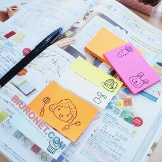 Karteczki samoprzylepne Stick'N 51x76mm, bloczek 100 kartek, kolory neonowe