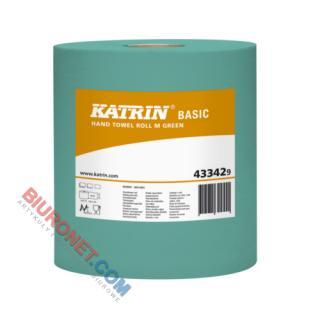 Katrin Basic M Green, ręczniki papierowe w roli do dozowników [1-warstwowe, zielone, makulaturowe]