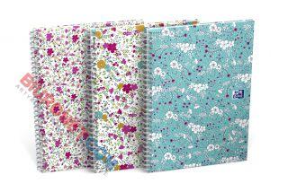 Kołozeszyt Oxford Floral B5, 60 kartek, oprawa twarda
