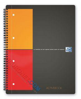 Kołozeszyt Oxford International Activebook A5+, 80 kartek, plastikowa oprawa  w kratkę