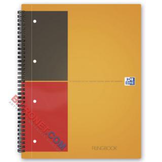 Kołozeszyt Oxford International Filingbook A4, 100 kartek, oprawa twarda