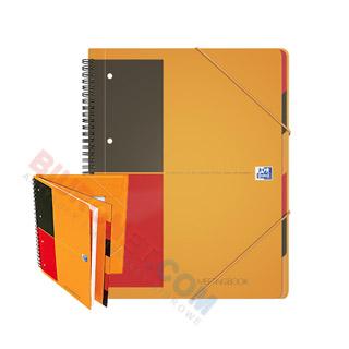Kołozeszyt z teczką Oxford International Meetingbook A4+, 80 kartek, oprawa plastikowa