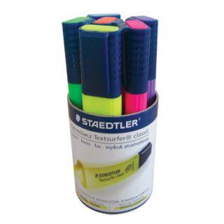 Komplet zakreślaczy fluorescencyjnych Staedtler TOP STAR, w etui