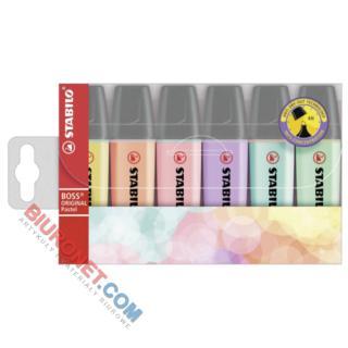Komplet zakreślaczy pastelowych Stabilo Boss Original Pastel, w etui