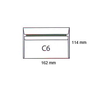 Koperty C6, samoprzylepne SK, białe 1000 sztuk