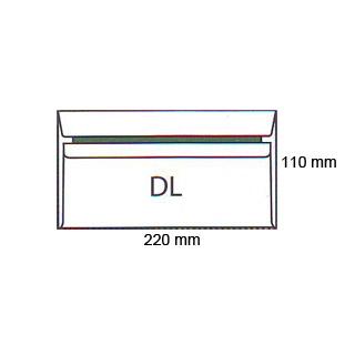 Koperty DL, samoprzylepne SK, białe 50 sztuk