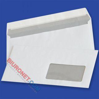 Koperty DL z oknem prawym, samoprzylepne z paskiem HK, białe 1000 sztuk