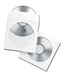 Koperty na płyty CD, samoklejące SK, białe, 100 sztuk z okienkiem