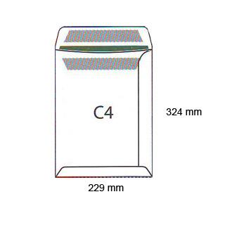 Koperty samoklejące (SK), białe (BI), z okienkiem, opakowania zbiorcze