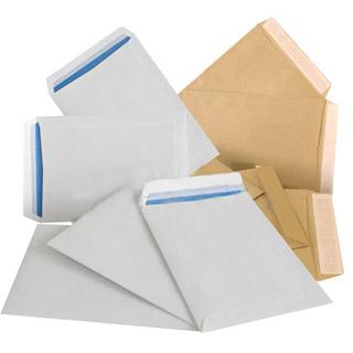 Koperty z paskiem (HK), białe (BI), 50 sztuk