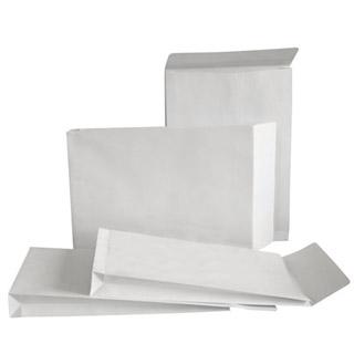 Koperty z rozszerzanymi bokami i dnem (RBD), z paskiem (HK), białe (BI), opakowania zbiorcze